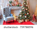 the unusual interior of the... | Shutterstock . vector #759788596