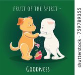 fruit of the spirit   mercy  ... | Shutterstock .eps vector #759789355