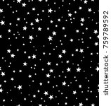 seamless pattern with stars | Shutterstock .eps vector #759789592