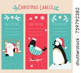 christmas labels and template | Shutterstock .eps vector #759792382