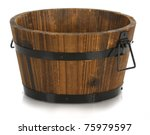 Wooden Bucket With Reflection...
