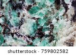 malachite in mica group of... | Shutterstock . vector #759802582