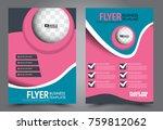 business flyer design template. ... | Shutterstock .eps vector #759812062