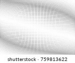 abstract halftone wave dotted... | Shutterstock .eps vector #759813622