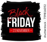 abstract vector black friday... | Shutterstock .eps vector #759816052