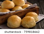 homemade potato bread rolls on... | Shutterstock . vector #759818662