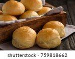 homemade potato bread rolls on... | Shutterstock . vector #759818662
