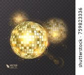 disco ball on isolated... | Shutterstock .eps vector #759823336