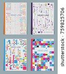 vector business brochure or... | Shutterstock .eps vector #759825706