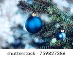 christmas background   baubles... | Shutterstock . vector #759827386