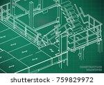 building. metal constructions.... | Shutterstock .eps vector #759829972