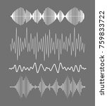 sound waves collection | Shutterstock .eps vector #759833722