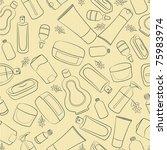 cosmetics doodle seamless | Shutterstock .eps vector #75983974