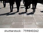 four people walking towards the ... | Shutterstock . vector #759840262