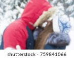 couple in winterwear enjoying... | Shutterstock . vector #759841066