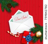 letter to santa claus.... | Shutterstock . vector #759842782
