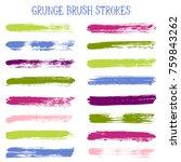 modern watercolor daubs set ... | Shutterstock .eps vector #759843262