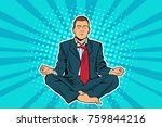 young businessman sitting in... | Shutterstock . vector #759844216
