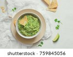 guacamole freshly cooked and... | Shutterstock . vector #759845056