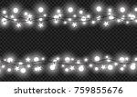 christmas lights isolated on... | Shutterstock .eps vector #759855676