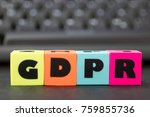 general data protection... | Shutterstock . vector #759855736