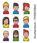 avatar portrait young smiling... | Shutterstock .eps vector #759855865
