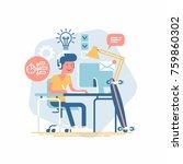 vector design element on... | Shutterstock .eps vector #759860302