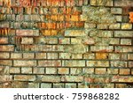 detail of old brick wall. old... | Shutterstock . vector #759868282