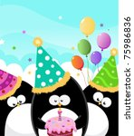 happy birthday | Shutterstock .eps vector #75986836