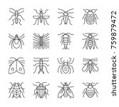 insect thin line icon set.... | Shutterstock .eps vector #759879472