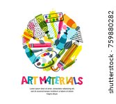 art materials for craft design... | Shutterstock .eps vector #759880282