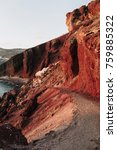 famous red beach with volcanic... | Shutterstock . vector #759885322