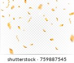 Gold Confetti Background Vecto...