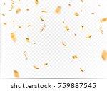 gold confetti background vector.... | Shutterstock .eps vector #759887545