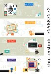 multimedia concept collection | Shutterstock .eps vector #759887572
