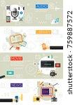 multimedia concept collection | Shutterstock .eps vector #759887572
