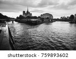 walk on the ship on the river... | Shutterstock . vector #759893602