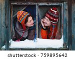 winter lifestyle concept  ...   Shutterstock . vector #759895642