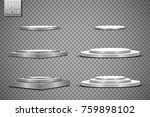 round podium  isolated on a... | Shutterstock .eps vector #759898102