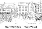 illustration  to the old town   ... | Shutterstock . vector #75989893