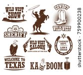 Set Of Wild West Decorative...