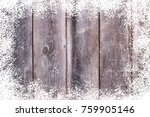 old wood surface  with an... | Shutterstock . vector #759905146