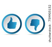 like and dislike icons set.... | Shutterstock .eps vector #759905152