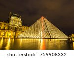 paris  france   july 14  2017 ... | Shutterstock . vector #759908332