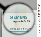 Small photo of Milan, Italy - November 1, 2017: Siemens logo on the website homepage.
