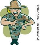 female drill instructor vector   Shutterstock .eps vector #759929836