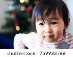 cute child  christmas image | Shutterstock . vector #759933766