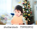 cute child  christmas image | Shutterstock . vector #759933952