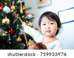cute child  christmas image | Shutterstock . vector #759933976