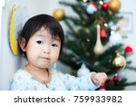 cute child  christmas image | Shutterstock . vector #759933982